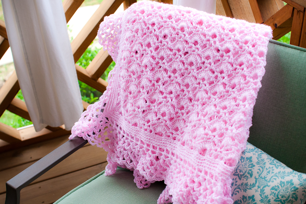 charming pink baby blanket southern daisy
